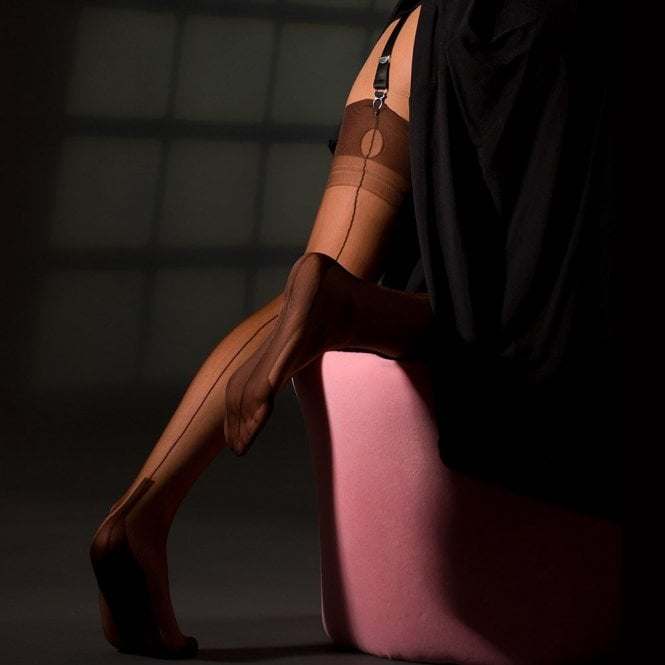 Cuban Heel fully fashioned stockings - plain colours