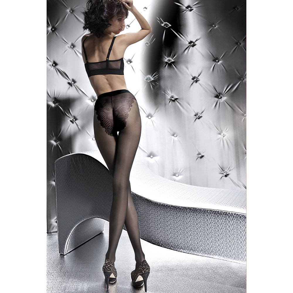 fiore klara 20 denier bikini tights in black natural tan. Black Bedroom Furniture Sets. Home Design Ideas
