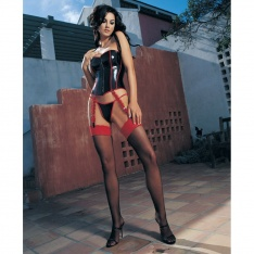 Leg Avenue 1012 sheer stockings with contrast lace top