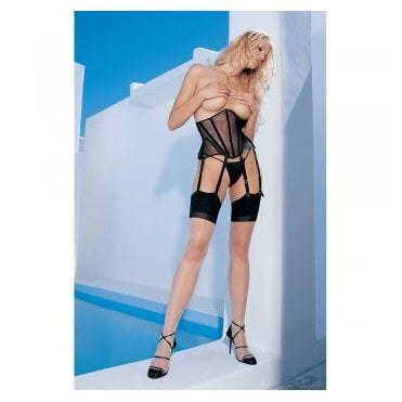 Leg Avenue 1024 contrast seam cuban heel stockings