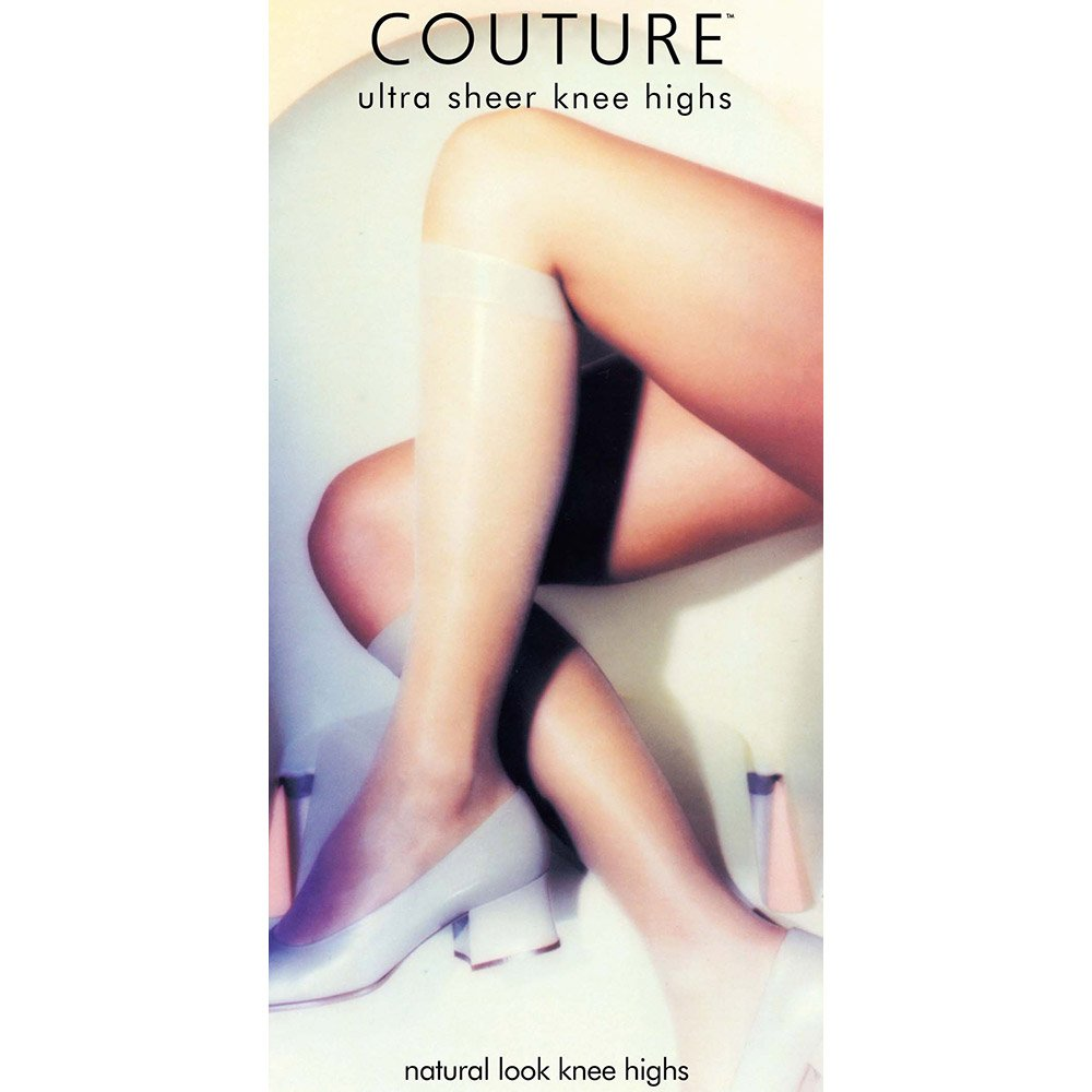 Couture 15 denier 100% stretch nylon knee highs