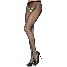 1905 sheer 100% nylon crotchless tights