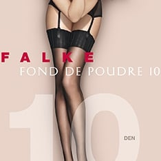 41522 Fond De Poudre 10 denier transparent matt stockings