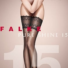 41545 Pure Shine 15 denier transparent shining hold-ups