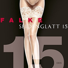 41584 Seidenglatt 15 deep French lace hold-ups