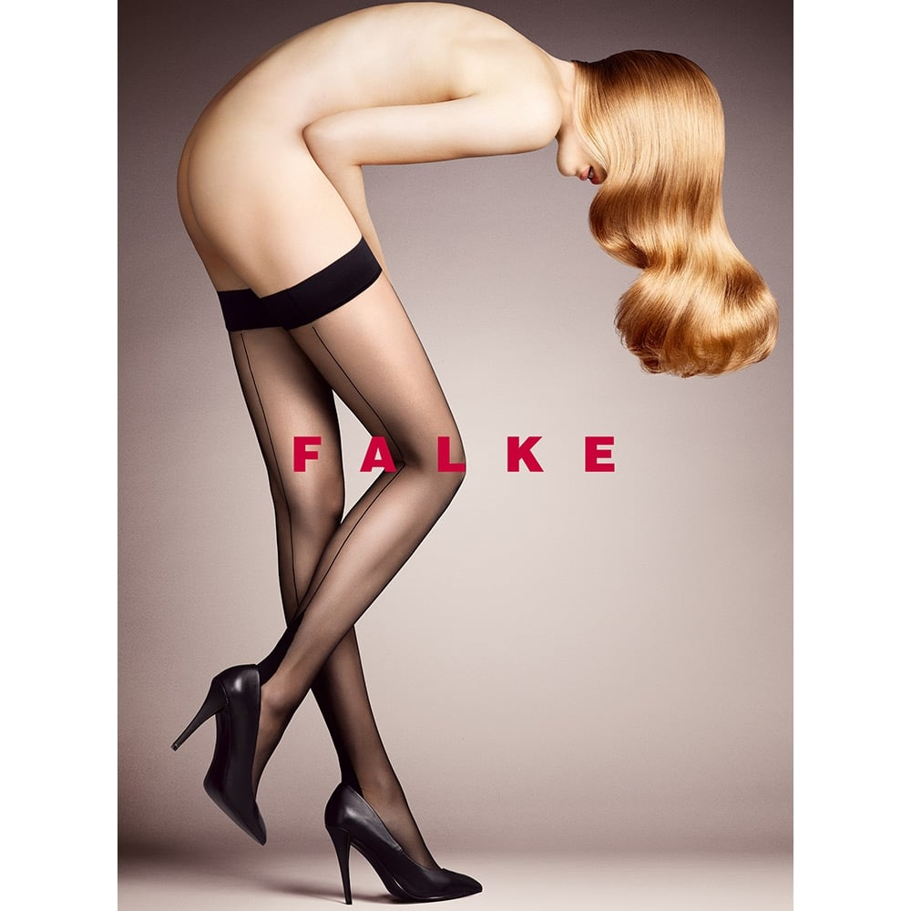 Falke 42084 High Heel seamed transparent shimmer hold-ups