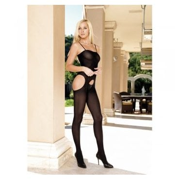 Leg Avenue 8195 opaque suspender bodystocking