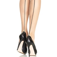9086 fishnet tights with contrast backseam
