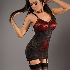 9357 6-strap body briefer - special cut version