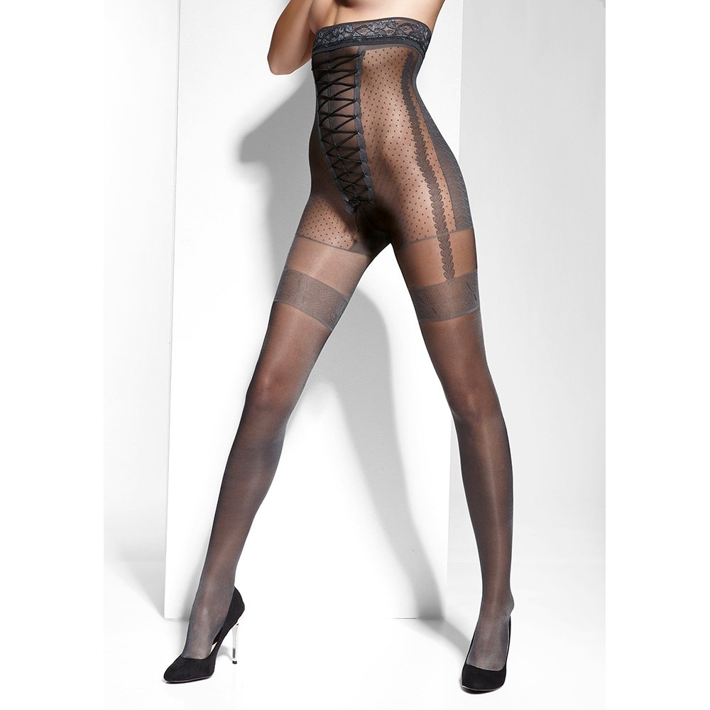 adrian grazia high waist corset lace tights at stockings. Black Bedroom Furniture Sets. Home Design Ideas