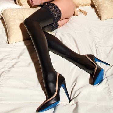 096a526cc92 Opaque hold-ups at Stockings HQ  The Stockings   Tights shop