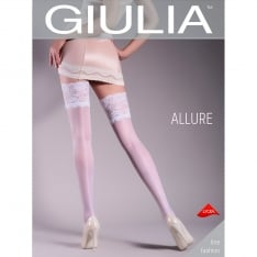Giulia Allure 20 model 14 patterned backseam lace top hold-ups