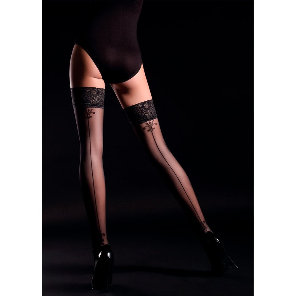 Giulia Allure 20 model 4 backseam hold-ups