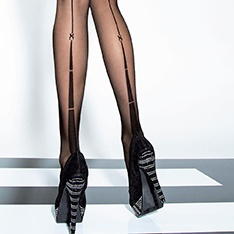 Avanta 20 denier backseam tights