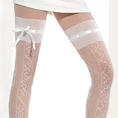Avenija ribbon top tights