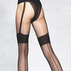Beverly faux seamed stocking tights
