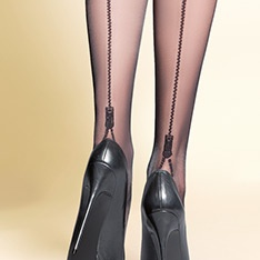 Blanca zip backseam tights