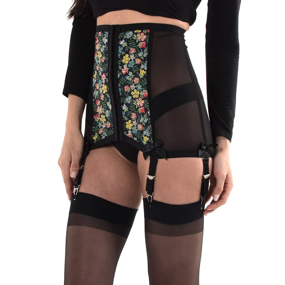 Hallowed Rose Buttercups and Forget-Me-Nots waist cincher