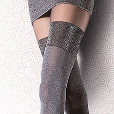 Caladia melange faux hold-up tights