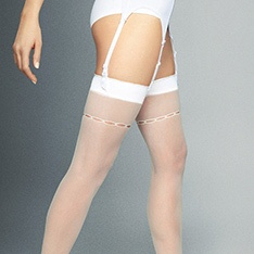 Calze Arisa patterned-top stockings