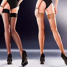 Capri contrast seamed hold-ups