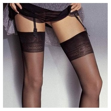 Girardi Chantal Rigo Girardi Signature seamed logo stockings