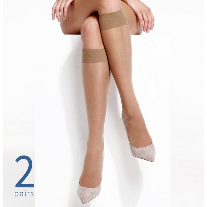 Charnos Simply Bare knee highs - 2 pair pack