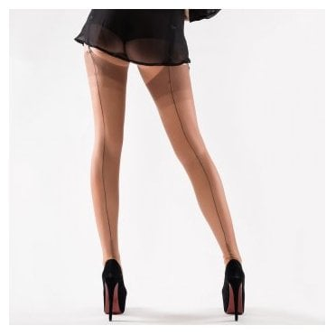 Gio contrast seam fully fashioned stockings - RARE