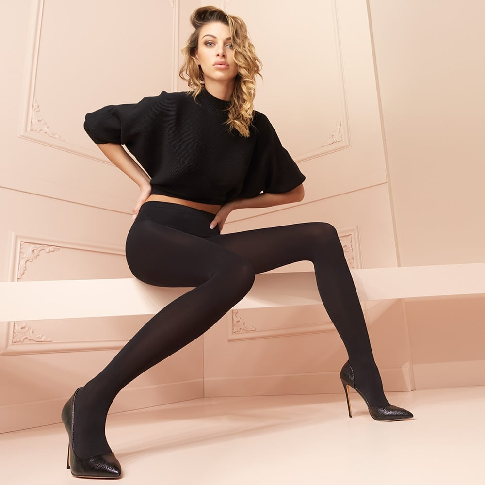 aae13570f74b0 Trasparenze Cortina 100 denier microfibre opaque tights at Stockings HQ the Trasparenze  Tights shop