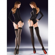 Gabriella Cruze seamed opaque stockings