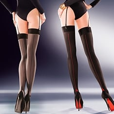 Cruze seamed opaque stockings