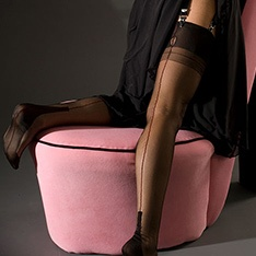 Cuban Heel fully fashioned stockings - CONTRAST SEAM - PERFECTS