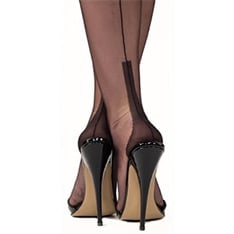 cuban heel fully fashioned stockings - SECONDS