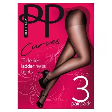 Pretty Polly Curves Superfit ladder resist tights