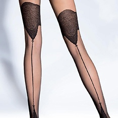 Danella 20 denier backseam tights