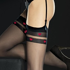 Eternal contrast heart stockings