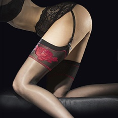 Etheris red rose stockings