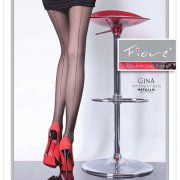 Fiore Gina lurex seam tights - END OF LINE - SAVE 34%!