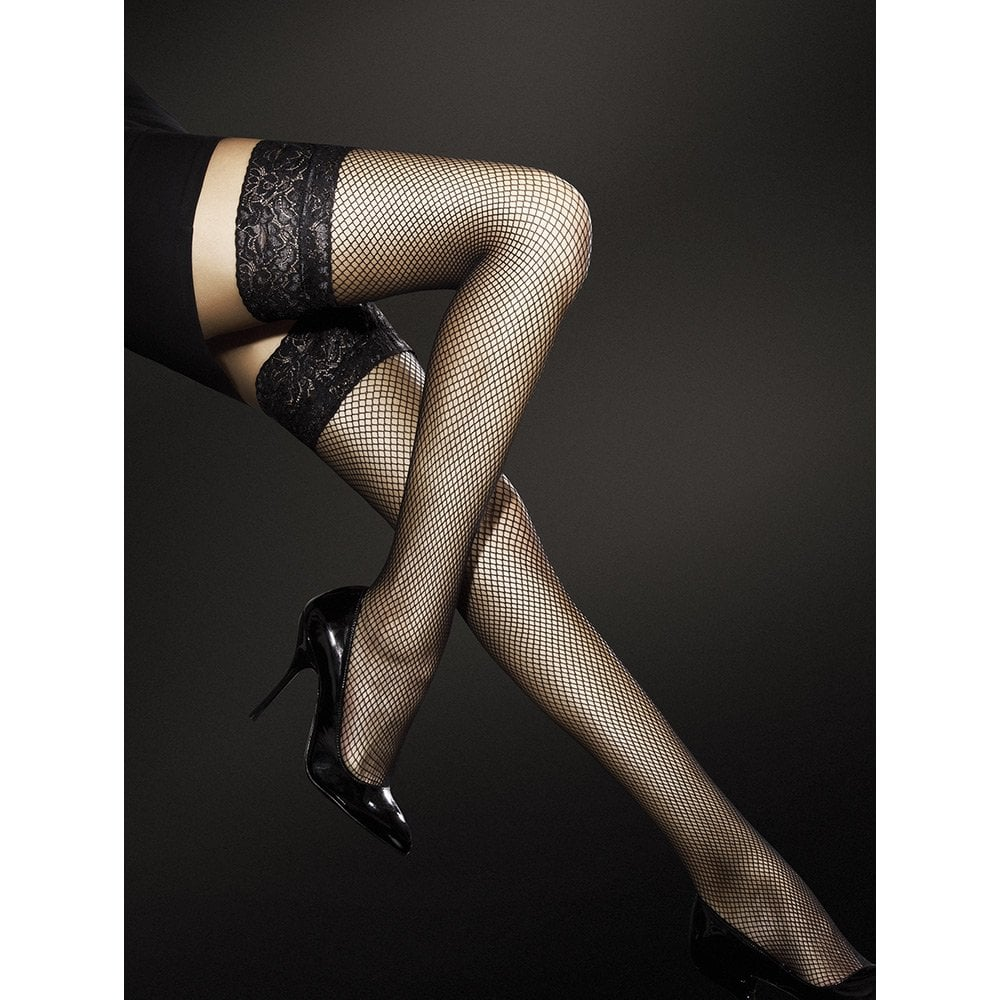 e230bcaa7 Fiore Liza Fishnet Hold-ups at Stockings HQ  The Fiore Hold-ups Shop