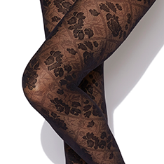 Floral Opaque tights