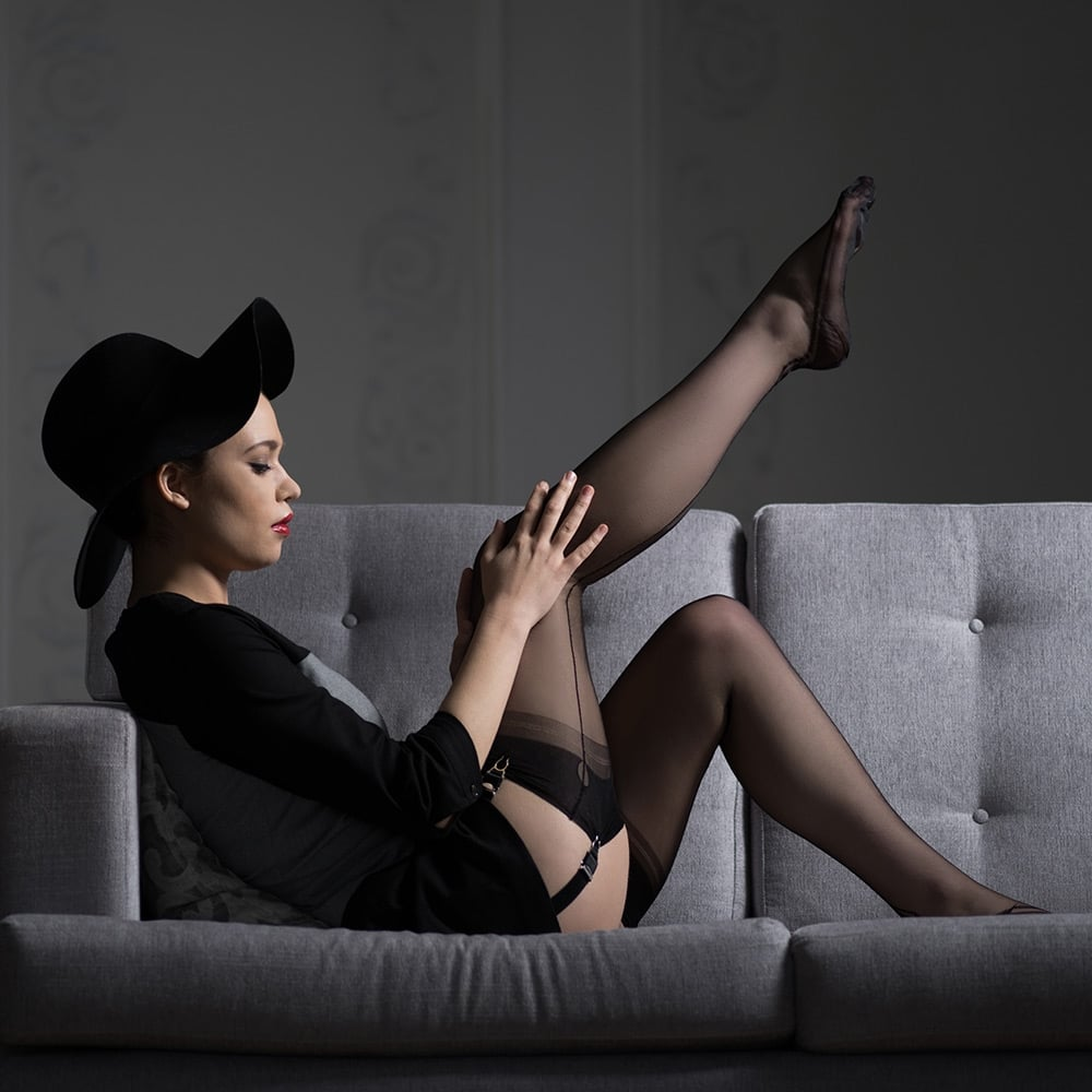86bc07a65 Gio SECONDS - manhattan heel fully fashioned stockings at Stockings HQ