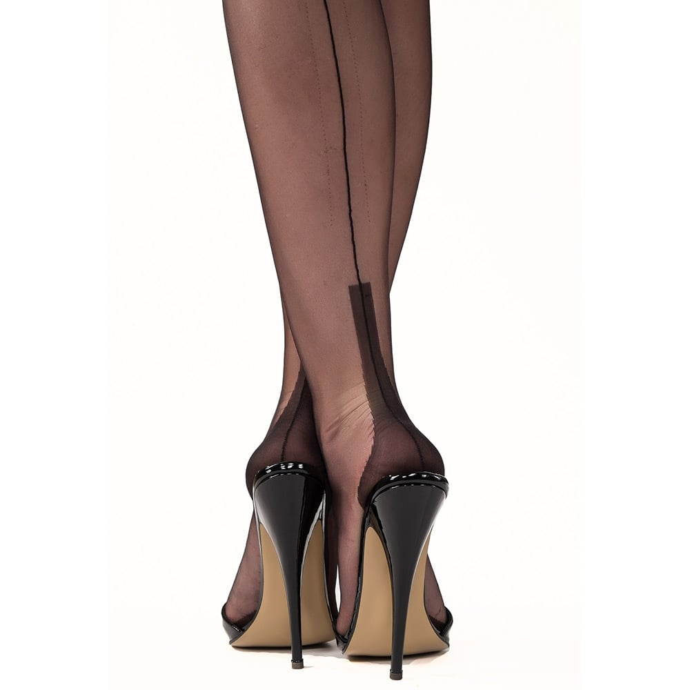 6a413182cb6 Gio susan heel fully fashioned stockings at Stockings HQ