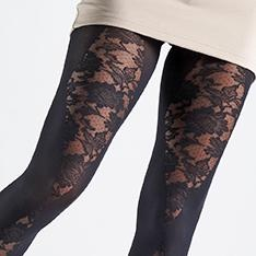 Gisella opaque lace cut-out tights