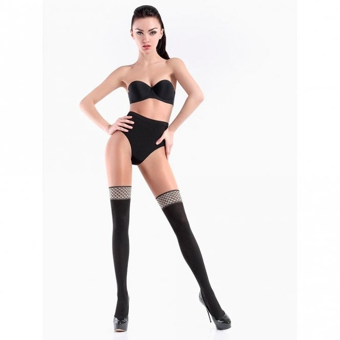 Giulia Pari Vintage model 1 opaque faux hold-up tights