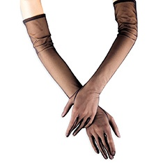 Glamour tulle vintage look elbow length gloves