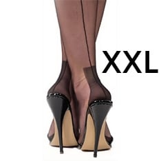 Havana heel fully fashioned stockings - XXL - size 12.5