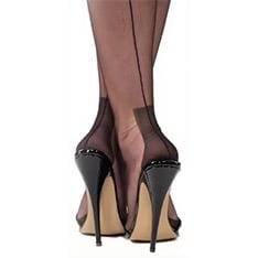 Havana heel genuine fully fashioned stockings