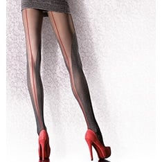 Hestia sheer and melange contrast backseam tights