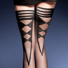 Holly diamond back 20 denier hold-ups