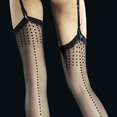 Ignis dot backseam stockings